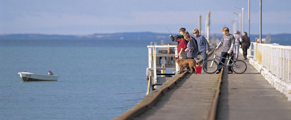 Fishing off the jetty at Kingston